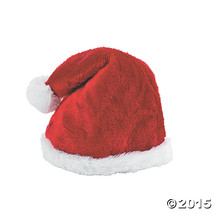 """Plush Adult's Santa Red Deluxe Hat 20"""" circ. - $7.59"""