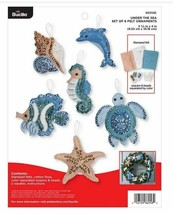 Bucilla 'Under the Sea' Felt Ornament Stitchery Kit, 86958E, Ocean Theme... - $22.99