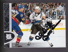 MIKAEL ANDERSSON AUTOGRAPHED CARD 1996-97 UPPER DECK TAMPA BAY LIGHTNING - $3.98