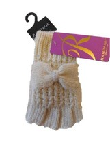 Rampage Womens Metallic Fingerless Texting Gloves Ivory, One Size - $19.70