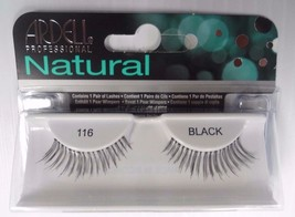 Ardell Strip Lashes Natural Style 116 Black (Pack of 10) Easy Steps Appl... - $26.98