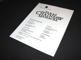 2003 THE TEXAS CHAINSAW MASSACRE Movie PRESS KIT PRODUCTION NOTES HANDBO... - $10.99