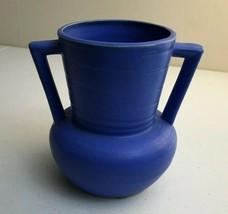 Scarce Buttress Style MATTE Vivid BLUE Vase JAPAN Art Pottery Unique 5.7... - $15.86