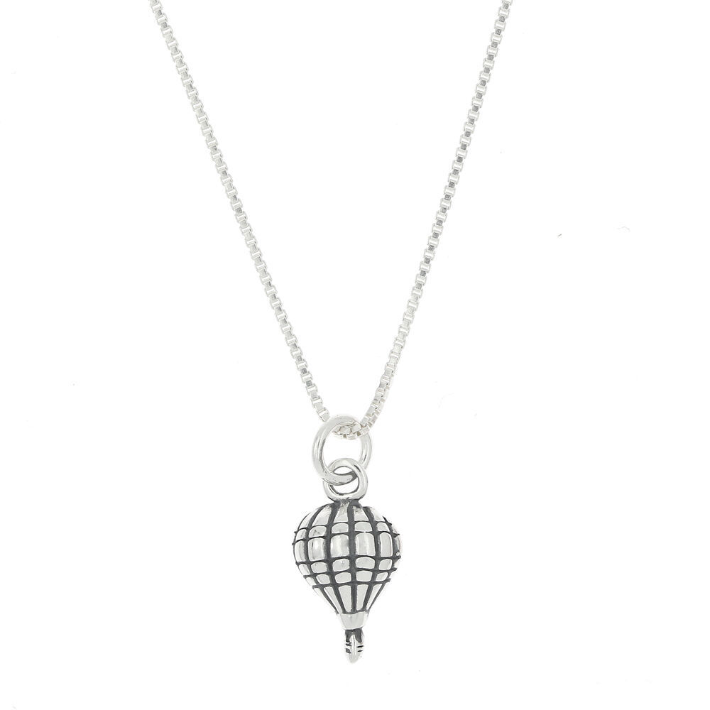 STERLING SILVER TINY AIR BALLOON PENDANT NECKLACE - $12.85 - $18.91