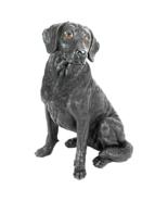 Black Labrador Retirver Dog Statue - $61.50