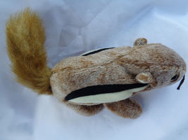 "TY 1999 Chipper The Chipmunk Beanie Baby 7"" Long image 6"