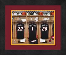 Personalized Miami Heat 12 x 16 Locker Room Framed Print - $63.95