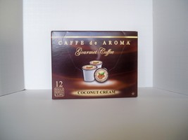 Caffe de Aroma Flavored Coconut Cream 12 Single Serve K-Cups Free Shipping  - $10.45