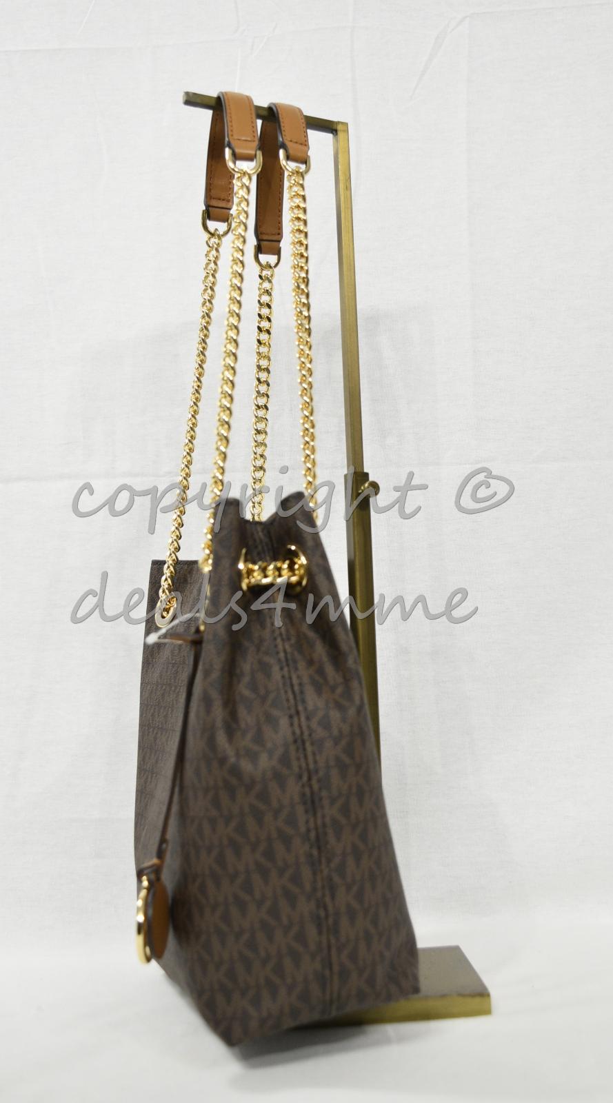 017903b3e4b9 NWT Michael Kors Signature 'MK' Jet Set Medium Chain Shoulder  Tote/Crossbody Bag