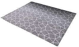 Casa Verde Cosmic line Area Rug Geometry Print Microfiber Stylish Gray