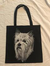 Yorkshire Terrier Design Cotton Tote Bag Shopping Travel Beach Gym Bag Y... - $14.85