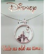 Disney Fine Silver Plated Necklace - Tale as Old as Time - Brand New in Box - $29.91