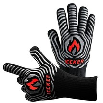 """ICCKER Grill Gloves - 932°F Extremely Heat Resistant BBQ Gloves, 14"""" Gri... - $15.97"""