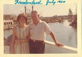 Old Antique Vintage Photograph Man and Woman At Freedomland 1960 - $6.93