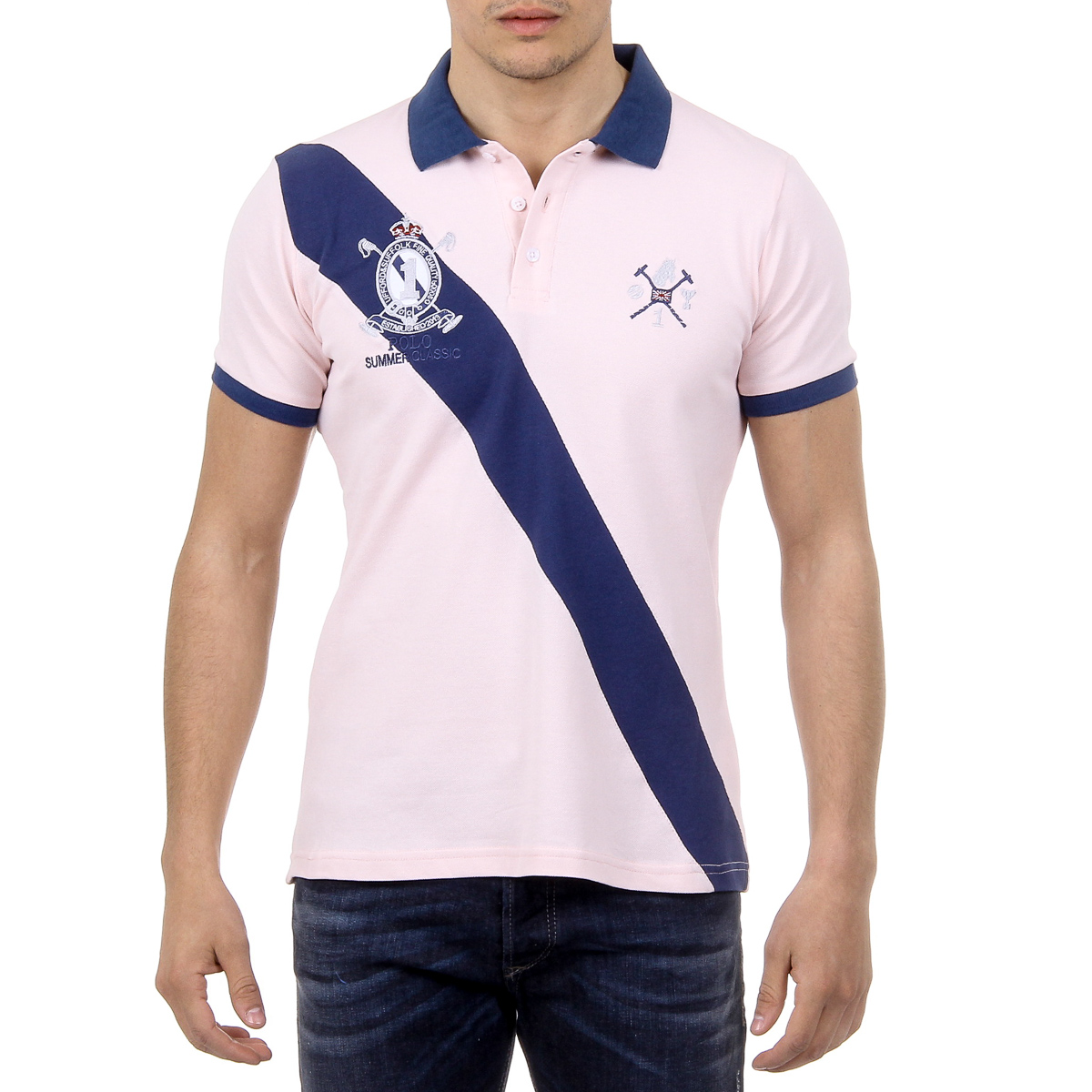 Primary image for Ufford & Suffolk Polo Club Mens Polo Short Sleeves US004 PINK