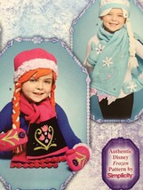 Simplicity Sewing Pattern 8029 Girls Fleece Hats Scarves Mittens Size S-... - $14.77