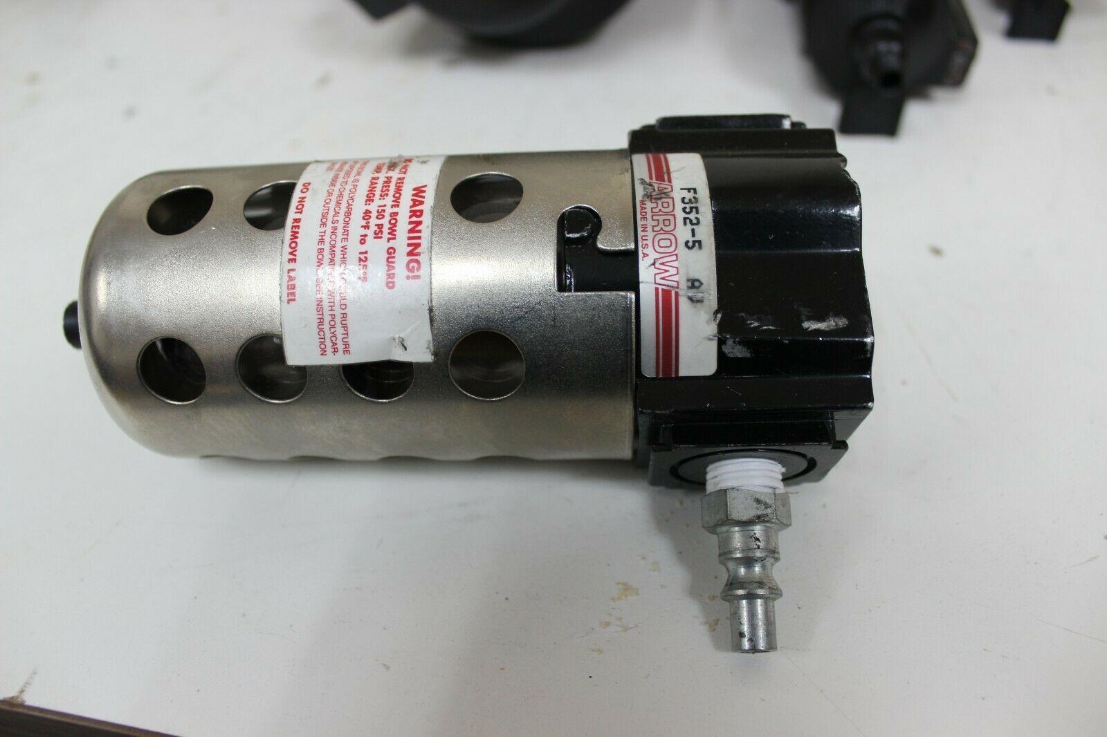 Arrow F352-5 Modular Style Air Filter 5 micron 48 scfm 1/4 NPT Ports New