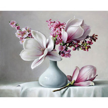 Paint By Numbers Kit Beautiful Magnolia 40CMx50CM Canvas - $13.07