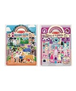 Melissa & Doug Deluxe Puffy Sticker Activity Book Set: Day of Glamour an... - $19.75