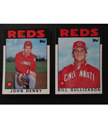 1986 Topps Traded Cincinnati Reds Team Set of 2 Baseball Cards Missing #104 - $1.50