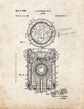 Piston Patent Print - Old Look - $7.95+