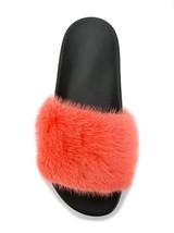 Givenchy Mink Fur Pool Slide Sandal, Coral 36 MSRP: $595.00 - $414.81