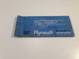 1967 Plymouth Fury Operating Instructions Warranty 81-570-7455 Glove Box - $11.99