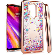 For LG G7 ThinQ Phone Case CHROME Glitter Motion Image TPU Cover - $8.49