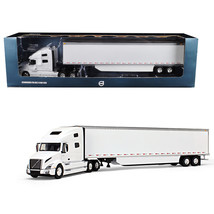 Volvo VNL 760 Sleeper Cab with 53 Trailer with Side Skirts White 1/50 Di... - $125.64