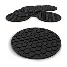 Glogex Black Silicone Drink Coaster Set of 8, Prevents Furniture and Tab... - $18.38