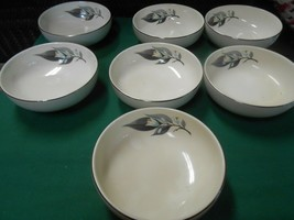 "Beautiful HOMER LAUGHLIN ""Rhythm"" Set of 7 BOWLS 5.5"" - $29.29"