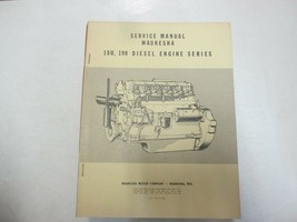 1958 Waukesha 180 190 Motore Diesel Serie Servizio Shop Manuale Minori M... - $102.95