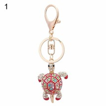 Rhinestone Keychain Car Key Ring Gifts Decorative Colorful Turtle Charm ... - $8.05
