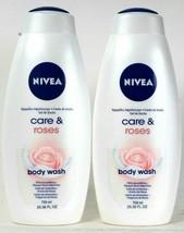 (Pack of 2) Nivea Care & Roses Skin Softening Almond Milk Body Wash 25.3... - $30.68