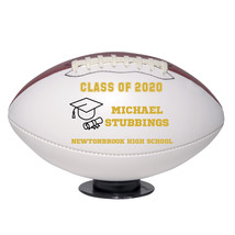 Personalized Custom Class of 2020 Graduation Regulation Football Gold Text - $59.95