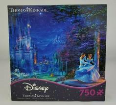 New Thomas Kinkade Disney Cinderella Dancing Starlight Puzzle 750 Piece - $28.04