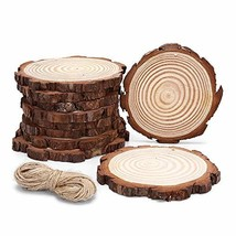 10pcs Hanging Natural Wood Slices Round Unfinished for centerpieces with... - $22.02