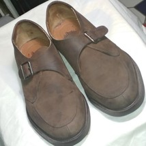 GH Bass Men's  Brown Suede Leather Slip On Buckled Loafers   12 M Made i... - $17.99