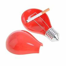Creative Bulb Shape Melamine Ashtrays Home Decoration Creative Ashtrays(Red)