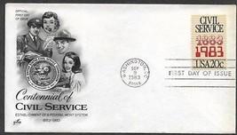 USA 1983 Sc 2053 CIVIL SERVICE Mailman SECRETARY Telephone Operator ARTC... - $0.99