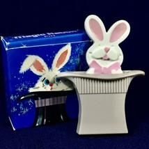 Vintage 1975 Avon Magic Rabbit Pin White Bunny Magician Hat Pop Up - New... - $11.26