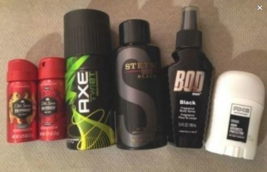 NEW Fragrance LOT Axe Old Spice Stetson BOD & Axe Mini Deodorant FREE SH... - $33.00