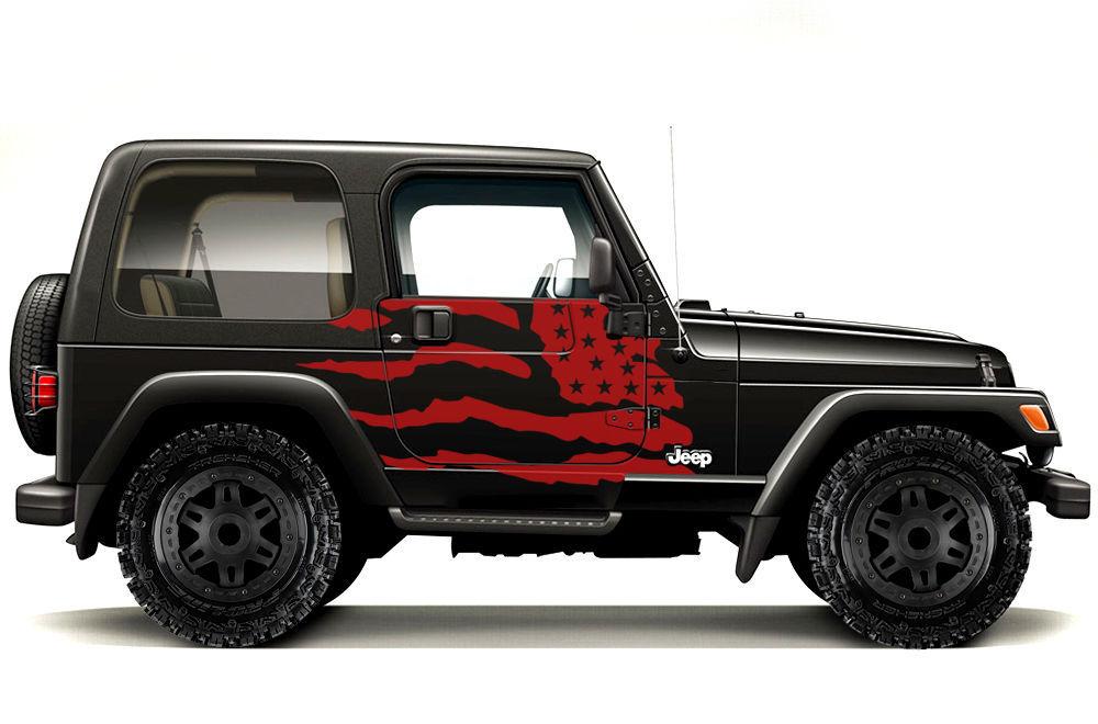 Vinyl Graphics Decal Wrap Kit Fits 1999 2006 Jeep Wrangler