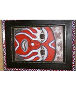 RARE AUTHENTIC FRAMED SIGNED FOLK ART PAINTING PANGA TRIBE WARRIOR NEW G... - £676.17 GBP