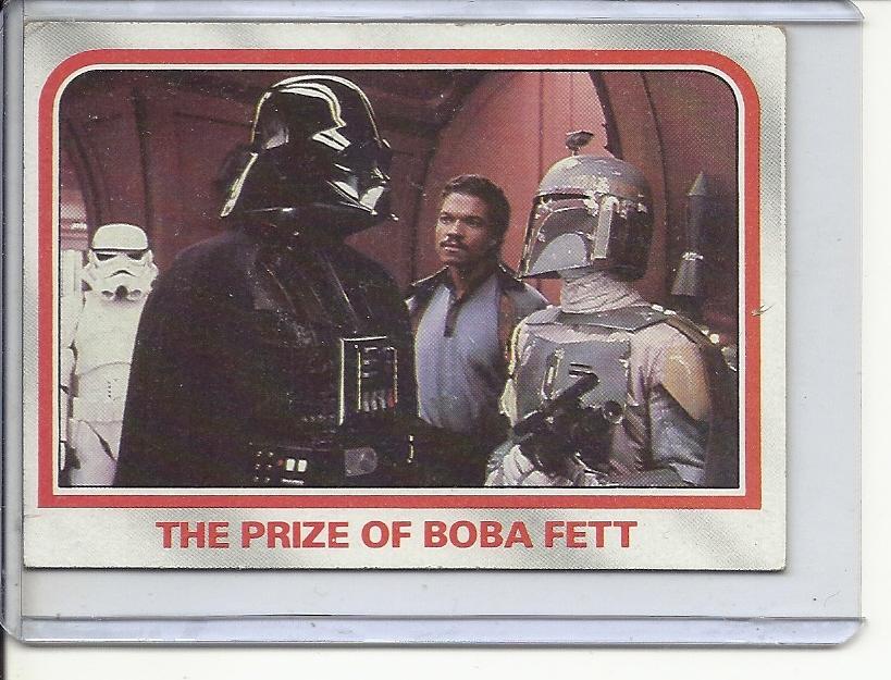 (B-1) 1980 Star Wars card #91: Prize of Boba Fett - Factory Error- Off-Set back