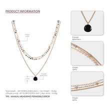 e-Manco Classic Three Layers Necklaces For Women Luxury Choker Necklace Multilay - $13.11