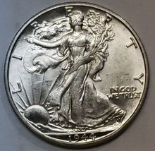 1944D Walking Liberty Half Dollar 90% Silver Coin Lot# E 159
