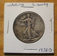 1936-S Silver Walking Liberty Half Dollar - 90% Silver - $89.95