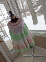 """Handmade"" Funky Women's Crochet Poncho Pastels - $17.40"