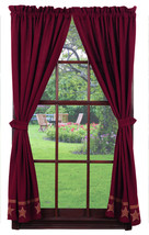 Olivia's Heartland country primitive Burlap Star Wine Panel curtains 36x63 - $79.95